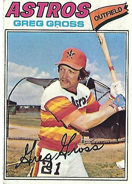"""GREG GROSS """"Astros"""" 1977 #614 Topps Baseball Card"""