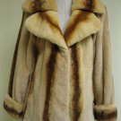 LADIES WHISKEY PLUCKED MINK JACKET W/ STRIPE- 44911 (SIZE M =44)