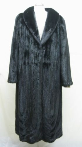 LADIES RANCH FEMALE US MINK LETOUT DIRECTIONAL LONG COAT-66098(SZ 16)