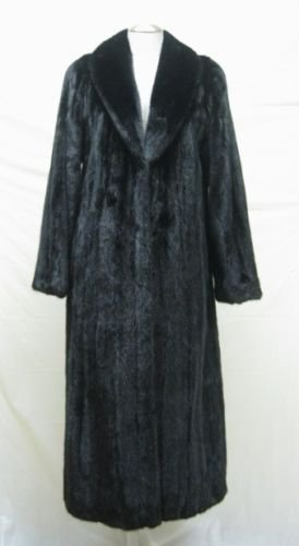LADIES RANCH FEMALE US MINK LETOUT LONG COAT-66092 (SIZE 8 )