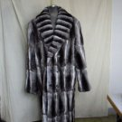 MENS NATURAL CHINCHILLA SOS LONG COAT - 64933(o)running size in S - M - L - XL