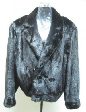 LADIES BLACK FEMALE USA MINK JACKET - 32125 -  SIZE Large