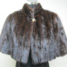 LADIES MAHOUS MINK CUTE HOLMES CAPE WITH PRINTED LINING  - 67185 (SIZE F)