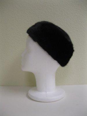LADIES ELEGANT BLACK MINK CAP  41917(o) SIZE F