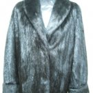 LADIES BLACK MINK JACKET - 59363(o) SIZE M = SIZE 10
