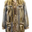 LADIES DEMIBUFF MINK JACKET W/TRIM IN SHEARED MINK 51995(o)available size M & L