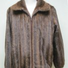 MENS BIG & TALL DEMIBUFF MINK BOMBER ZIP UP  JACKET-66010 (SZ 4XL)