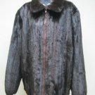 MENS MAHOGANY USA MINK BOMBER ZIP UP JACKET-67003 (SZ 4XL)