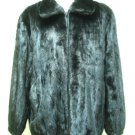MENS BIG & TALL BLACK MINK BOMBER ZIP UP JACKET-66259(o)  SIZE 2XL