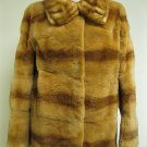 LADIES GOLD PLUCKED MINK JKT W/MINK COLLAR-41973(o) SIZE M