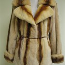 SUPER SOFT WHISKEY PLUCKED MINK JACKET W/ STRIPE-44911(o) size 40(M)