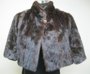 LADIES MAHOUS MINK CUTE HOLMES CAPE - 67016 (SIZE F)