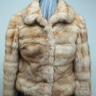 LADIES BLEACHED CANADIAN SABLE HORIZONTAL JKT - 66039(o) SIZE 44 = SIZE S