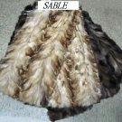 "SABLE SECTION (BLEACHED & NATURAL COL DRESSED SKIN PLATE(est 39"" x 19"")"
