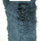 "LAMB -  DYED BLACK TIBET LAMB PLATE- DRESSED GENUINE FUR SKIN(est 44"" X 20"")"