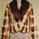 LADIES CUTE TIE DYED RABBIT BOLERO WITH BROWN DETACHBLE COLLAR (BN3)sz S