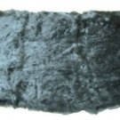 "REX RABBIT DYED BLACK DRESSED REAL GENUINE FUR SKIN PLATE (est size 43"" X 22"")"