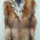 LADIES HOODIE RED FOX PULLOVER VEST (AM- 1) SIZE M
