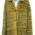 LADIES BROWN REX KNITTED JACKET(WN1033) Sz F = M