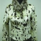 LADIES GREEN PRINTED RABBIT JACKET (HH51 ) SZ F=S