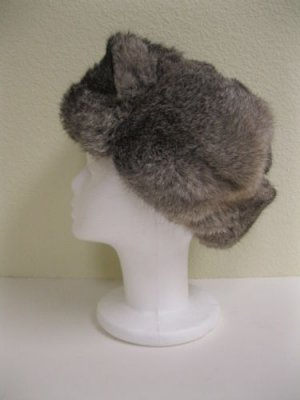 RUSSIA MILITARY NATRUAL GRAY REX HAT (07-A26)