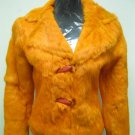 LADIES ORANGE REX JACKET - SIZE F = S (HH07)