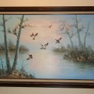 Ambrose Mallard Ducks in Flight Oil Painting Large 41 x 30