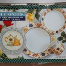 "16 Piece Set ""Teapots"" Sakura and Debbie Mumm new in Box"