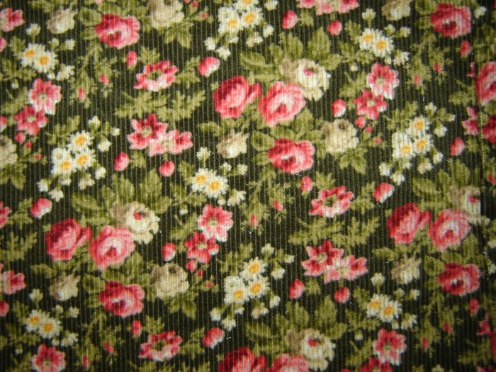 Jones New York Floral Stretch Corduroy Jean Style Skirt 14
