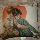 Norman Rockwell Sunset Painting Throw Toss Pillow Unused