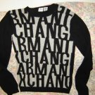 Womens Armani Exchange Logo Letters Sweater S