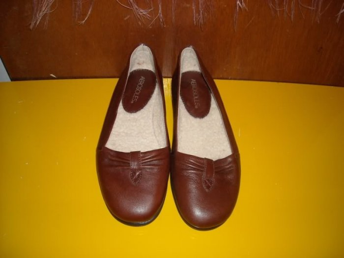 Womens Brown Leather Aerosoles 7 Special Edition