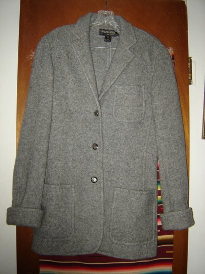 Womens Ralph Lauren Black Label Gray Wool Jacket 6