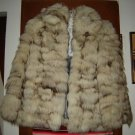 Womens Fluffy Fox Fur Jacket S M