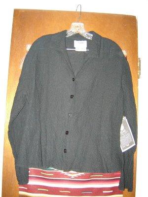 Womens Black Flax Jeanne Engelhart Shirt L Tags On