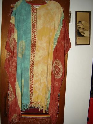 Womens Wind River Trading Company Rayon Poncho One Size