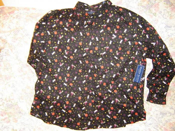 Womens Halloween Shirt Blouse XL New NWT