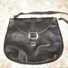 Cole Haan Large Black Pebbled Leather Handbag Bag
