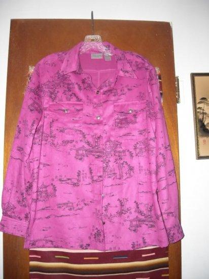 Womens Chicos Shirt Asian Pink 1
