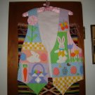 Womens Handcrafted Cotton Embellished Easter Vest M L