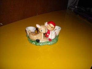 Holt Howard Vintage Deer Angel Candleholder 1959