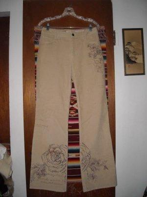 Womens J Jill Corduroy Stretch Jeans 6 Embellished