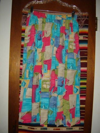 Womens Alfred Dunner Elastic Waist Pleated Skirt 12