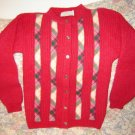 Womens Archie Brown & Son Hot Pink Cardigan Sweater S