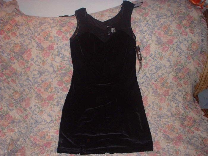 Black Velvet Lace Short Mini Dress Juniors M