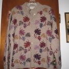 Womens Ana Miranda Leaves Peru Cardigan Sweater L XL