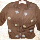 Womens Vintage Floral Cardigan Sweater S