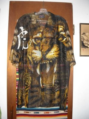 Mens Crosstown Hi-Tech Wear Mesh Tiger Shirt 17 1/2