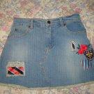Hillary Duff Embellished Denim Mini Skirt Juniors 7