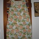 Womens Sportif Sleeveless Silk Shift Dress M Pineapple